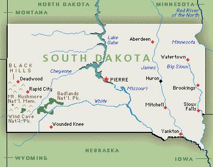 USA / South Dakota (SD) Deadwood Sd Map on